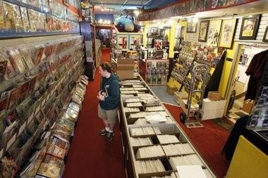 John Yackel shops at Jay and Silent Bob's Secret Stash comic book shop in Red Bank.