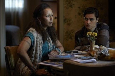 """Tamara Tunie, left, and Kiowa Gordon co-star in the Sundance Channel's """"The Red Road,"""" which explores tensions between the residents of a small New Jersey town and the members of a federally unrecognized Native American tribe based on the Ramapough Lenape."""