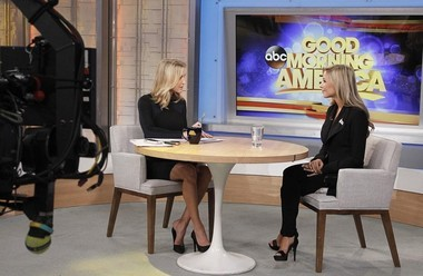 Miss America 2015, Kira Kazantsev, at right, appeared on 'Good Morning America' this week to answer hazing allegations. (Lou Rocco/ABC)