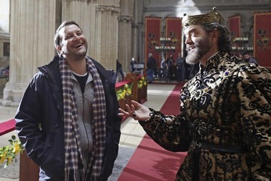 'Galavant' executive producer Dan Fogelman shares a laugh with Timothy Omundson, who plays King Richard.