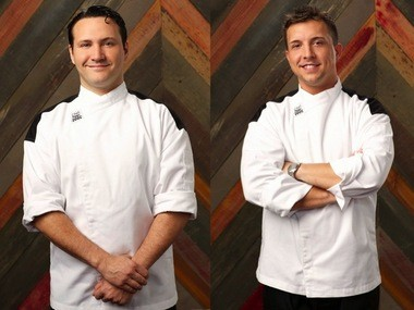 Cameron Spagnolo, left, of Jersey City, and Adam Livow, right, of Freehold, are both competing in the 14th season of 'Hell's Kitchen.'
