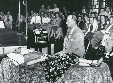 L. Ron Hubbard delivered a series of lectures about Dianetics and demonstrating auditing in Camden in 1953.