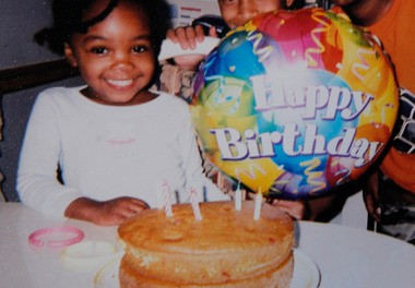 A photo of Christiana Glenn on her fourth birthday. The girl died at age 8 of malnutrition and an untreated broken femur. The daughter of Glenn's goddaughter has filed a lawsuit on behalf of the girl's estate charging the Division of Child Protection and Permanency were negligent in their investigations of abuse at the home.