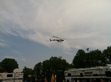 The Newark police helicopter after it was brought back into service.