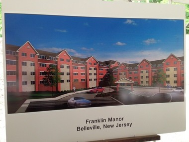 Officials unveiled plans for Belleville's first senior housing facility, a four-story, $18 million complex on Franklin Avenue.
