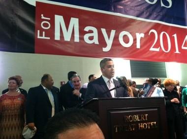 Newark Councilman Anibal Ramos officially announces his bid to run for mayor of Newark .
