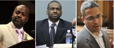Ras Baraka, left, Shavar Jeffries, center, and Anibal Ramos have all declared their candidacy for Newark mayor.