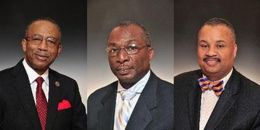 From left: Essex freeholders D. Bilal Beasley, Rufus Johnson and former freeholder Donald Payne Jr.