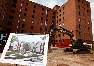 A June 2010 Star-Ledger file photo of the crime-infested Walter G. Alexander public housing buildings before they were razed later that year.