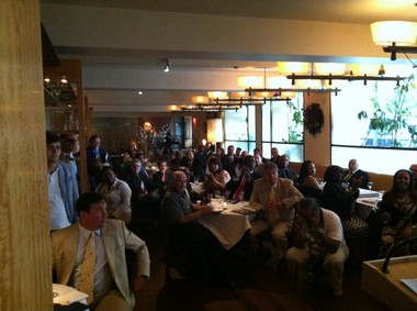 More than 100 business leaders in Newark gathered at the Maize Restaurant in the Robert Treat Hotel, to hear Ras Baraka's pitch.