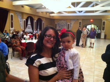 Eliana Pintor Marin, pictured here with her daughter Amelia, will replace Al Coutinho in the Assembly.