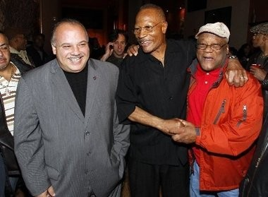 Councilman Luis Quintana, pictured at left in this file photo with former Newark Mayor Sharpe James, was voted council president Wednesday night.