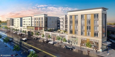 A rendering of $85 million Glenwood Village, the township's signature redevelopment project.