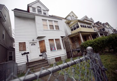 Irvington officials are considering using eminent domain to help residents stay in their homes. A March 2012 Star-Ledger file photo of a boarded up home.