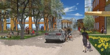 The first phase of the project, estimated at $20 million, will include a six to eight story residential building.