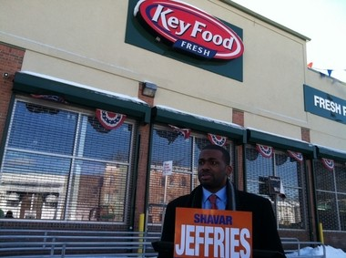 Shavar Jeffries held a press conference attacking Ras Baraka at a shuttered South Ward Key Food.