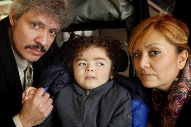 Jadiel Velesquez, 4, is being cared for by his grandparents, Neomi Escobar and Jose Betances, in their Hillside home.