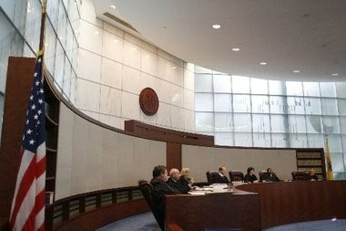 A state appellate panel heard oral argument today in the funding dispute between Newark and Newark Watershed Conservation and Development Corp. Above is a 2009 file photo of the courtroom of the state Supreme Court, where today's hearing was held.