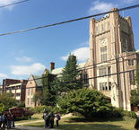 Outside Columbia High School today. (Bill Wichert   NJ Advance Media for NJ.com)