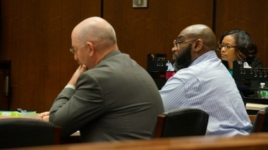 Raymond Perry, pictured right beside his attorney, John McMahon, looked on as his co-defendant, David Fate, testified today at Perry's murder trial. Fate, who is Perry's cousin, has claimed Perry fatally shot gas station attendant Daniel Pritchard during a Feb. 22, 2009 robbery at the Verona Sunoco. (Bill Wichert/NJ Advance Media for NJ.com)