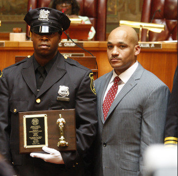 Newark Police Director Eugene Venable, pictured at right, says a number of new initiatives by the police department are driving murder and other crime rates down. Newark had the nation's third-highest murder rate among large cities in 2013, according to FBI statistics.