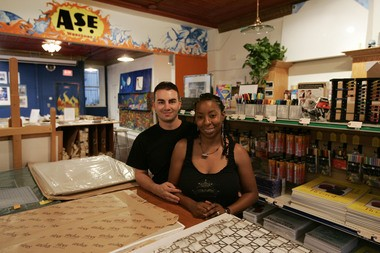 In this 2007 photo, Ade Sedita and her husband Chris pose in their store, Newark Art Supply. The store was one of several businesses that could not repay its loan from BCDC, according to a forensic operational review ordered by Newark mayor Ras Baraka and the city council and obtained by NJ Advance Media. (Tyler Barrick/For The Star-Ledger)