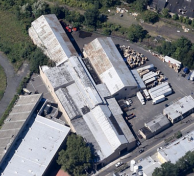 The current state of the converted steel factory located at 212 Rome Street that will become the AeroFarms headquarters. (Courtesy AeroFarms)