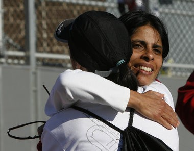 Sangeeta Badlani (right), mother of Nikhil Badlani, an 11-year-old West Orange boy who was killed in a traffic accident in 2011, worked with legislators to push Nikhil's Law. File photo. (Amanda Brown | The Star-Ledger)