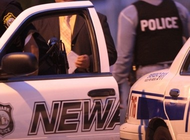 Police retrieved four weapons and made an identical number of arrests in Newark between Saturday and Monday.
