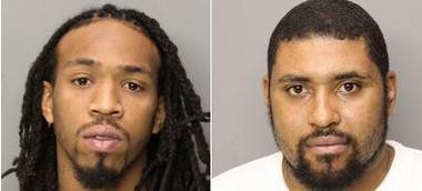 Quyri Patrick, 26, and Kourtney Chavis, 29, both of East Orange, pictured left to right, have pleaded guilty to causing the beating death of fellow Bloods gang member, Kelry Pierrejules, 23, of Orange, in August 2011 during a gang disciplining.