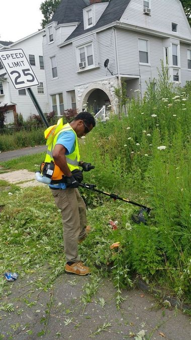 The city has hired residents to clean up abandoned properties. (Courtesy City of East Orange)