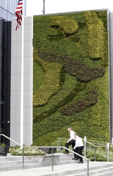 The building's green wall. (Patti Sapone | NJ Advance Media for NJ.com)
