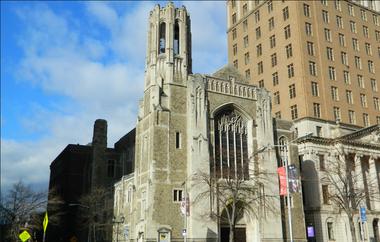 The former Second Presbyterian Church on Washington Street.