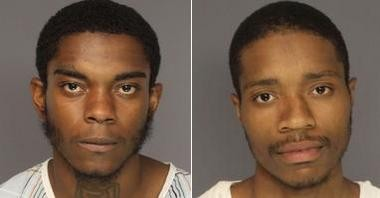 Lewis Williams, 18, and Isaiah Hutchins, 22, both of East Orange, pictured left to right, were indicted on Jan. 8 on murder, attempted murder and related charges for allegedly opening fire outside a city residence on July 5, killing Ahmad Crudup and injuring three others.
