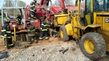 Rescue workers responding to the scene. (Courtesy city of East Orange)