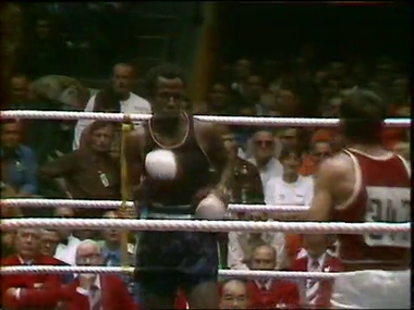 Reggie Jones, a former Newark Olympic boxer, (left) lost a controversial decision in 1972 in Munich to Valeri Tregubov of Russia. Many observers thought Jones won the fight.