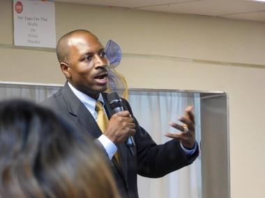 Orange Mayor Dwayne Warren at a town hall meeting. 09/01/2016. (Jessica Mazzola | NJ Advance Media for NJ.com)