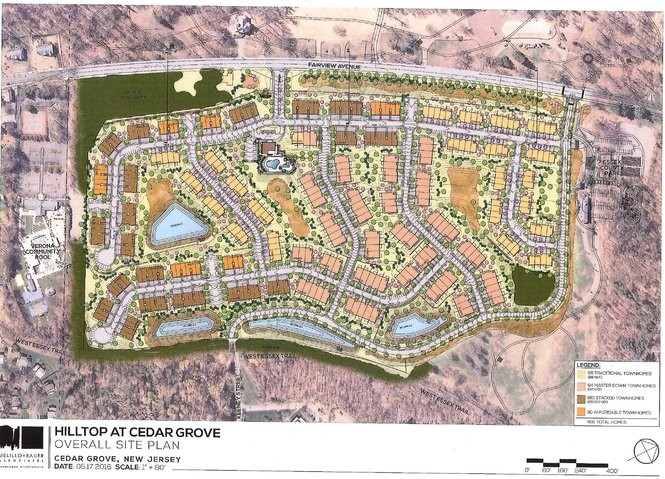 The plan for the townhouse development. (Courtesy K Hovnanian)