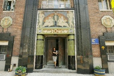 The old Science High School in Newark has been demolished. Some of the terra cotta tiles on the art deco entranceway have been removed to be incorporated in the design of a new luxury high-rise that will be built.(File Photo)