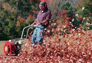 A New Jersey town has banned summertime commercial leaf blowing for good. (File photo)