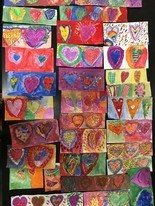 Students at Ann Street School in Newark sent artwork to Parkland for when the students return to class.