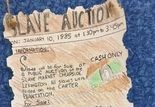 One of the student slave auction poster assignment at South Mountain Elementary School last year.