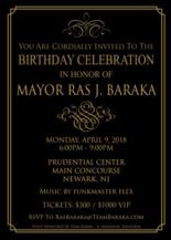 Baraka's birthday celebration invitation.
