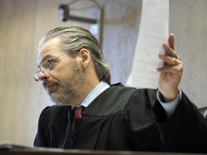 Essex Superior Court Judge John Zunic addresses the court at Anna Stubblefield's sentencing on Friday, May 11, 2018. (Patti Sapone | NJ Advance Media for NJ.com)