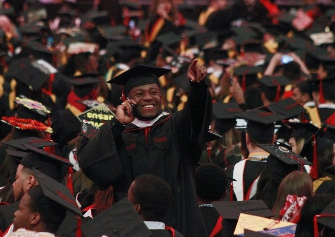 Rutgers Newark commencement at the Prudential center in Newark, NJ. Monday,05/14/2018