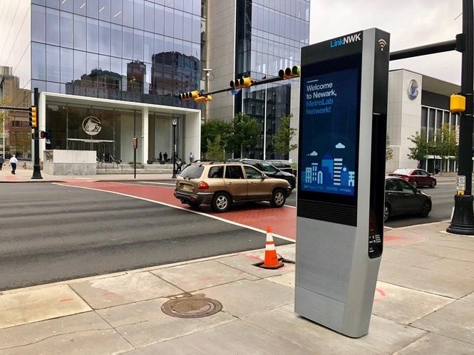LinkNWK kiosk on Broad Street. Oct. 16, 2018. (Courtesy: City of Newark)