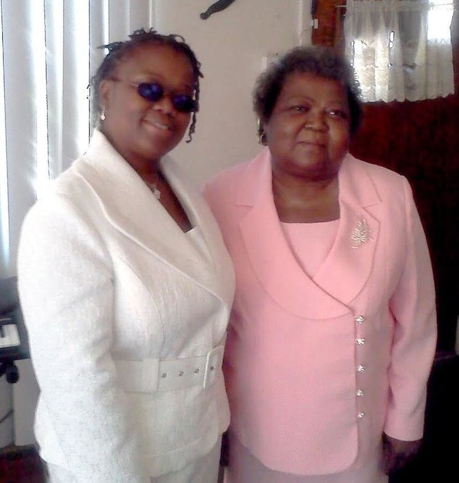 Linda Daniels, right, is seen with an unidentified family member in this photograph. Daniels, who depended on medical equipment, died after electricity was cut to her Newark home July 5. (Provided photo/Daniels Family)