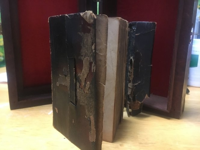 An 1854 pocket Bible of a Civil War soldier from Paterson who was related to Robert Burrows