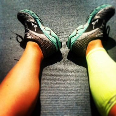 Runners wear compression socks in order to alleviate the pain of shin splints