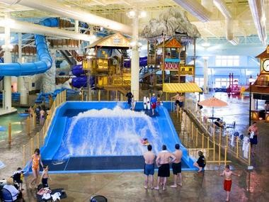 An indoor water park is the perfect place to be active with the family, especially during a long holiday weekend featuring frigid temps.